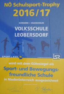 NÖ Schulsport Trophy 2016/17 VS Leobersdorf