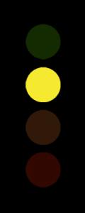 Gelbe Corona Ampel